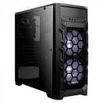 ANTEC GX202 BLUE LED (ATX) MID TOWER CABINET WITH TRANSPARENT SIDE PANEL (BLACK)