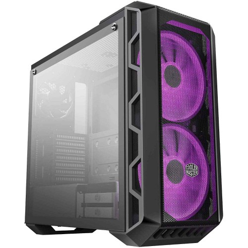 Cooler Master MasterCase H500 ATX Mid-Tower Cabinet w/ Tempered Glass Side Panel, 2x 200mm RGB Fans w/RGB Controller - MCM-H500-IGNN-S00