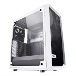 Fractal Design Meshify C White Steel / Tempered Glass ATX Mid Tower High-Airflow Compact Clear Tempered Glass Computer Case - TG FD-CA-MESH-C-WT-TGC