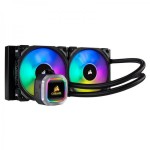 CORSAIR Hydro Series, H100i RGB PLATINUM, 240mm, 2 x ML PRO 120mm RGB PWM Fans, RGB Lighting & Fan Control w/ Software, Liquid CPU Cooler - CW-9060039-WW