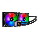 CORSAIR Hydro Series, H115i RGB PLATINUM, 280mm, 2 x ML PRO 140mm RGB PWM Fans, RGB Lighting & Fan Control w/ Software, Liquid CPU Cooler - CW-9060038-WW