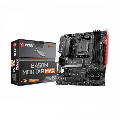 MSI B450M Mortar Max Socket AM4 AMD B450 DDR4 USB 3.2 Gen2 Type-C Micro ATX Motherboard